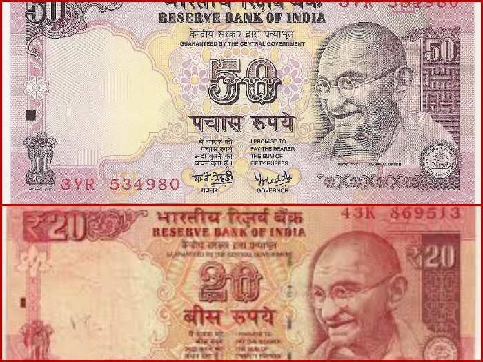 Reserve Bank to issue new 50, 20 Rupee notes