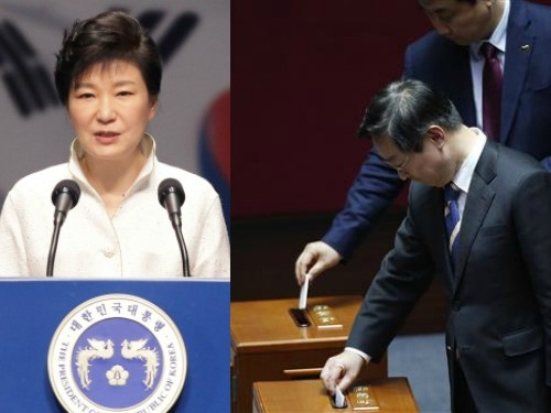 South Korea lawmakers pass impeachment motion against President Park