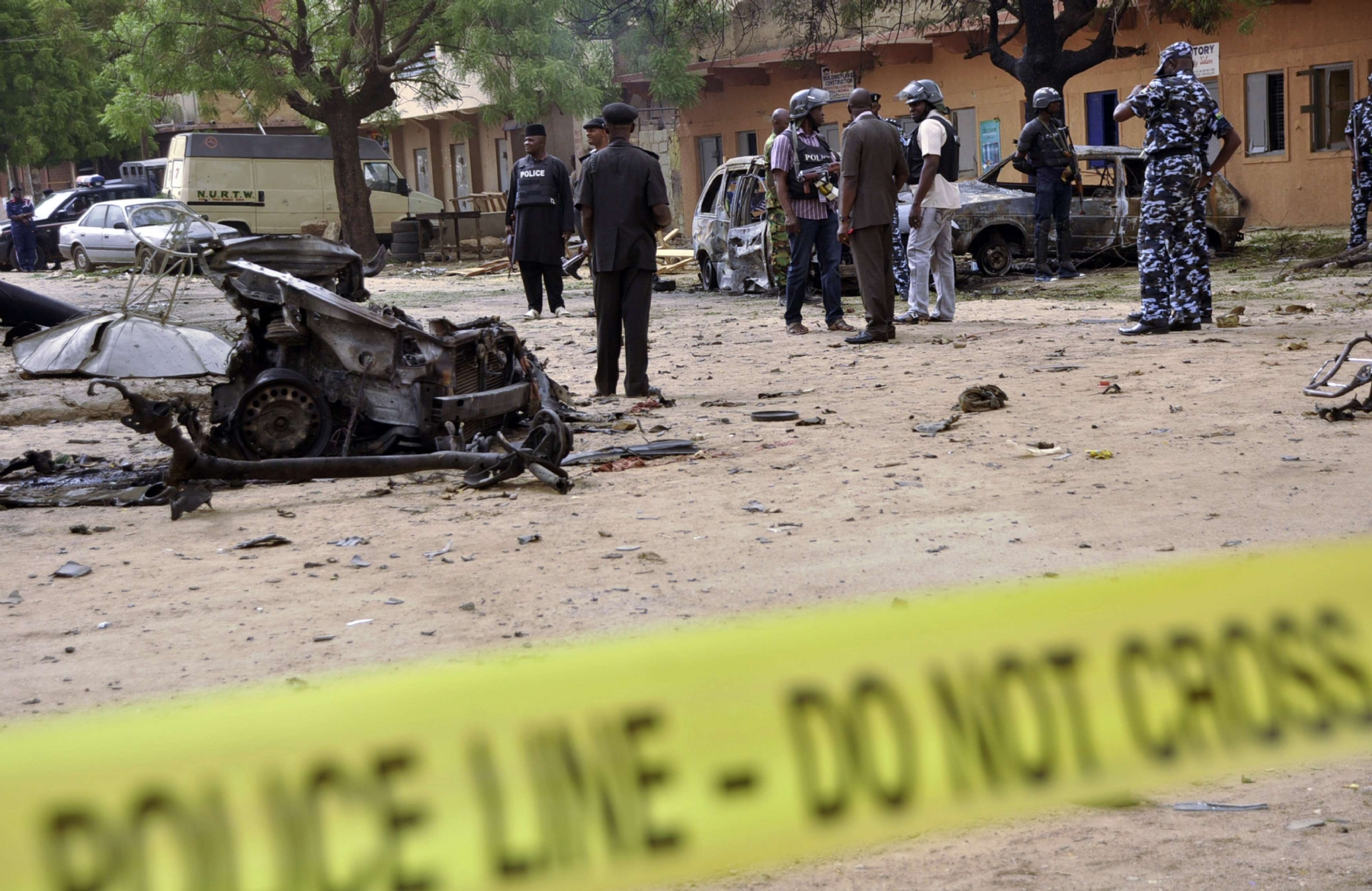 60 killed in double suicide bombing at refugee camp in Nigeria