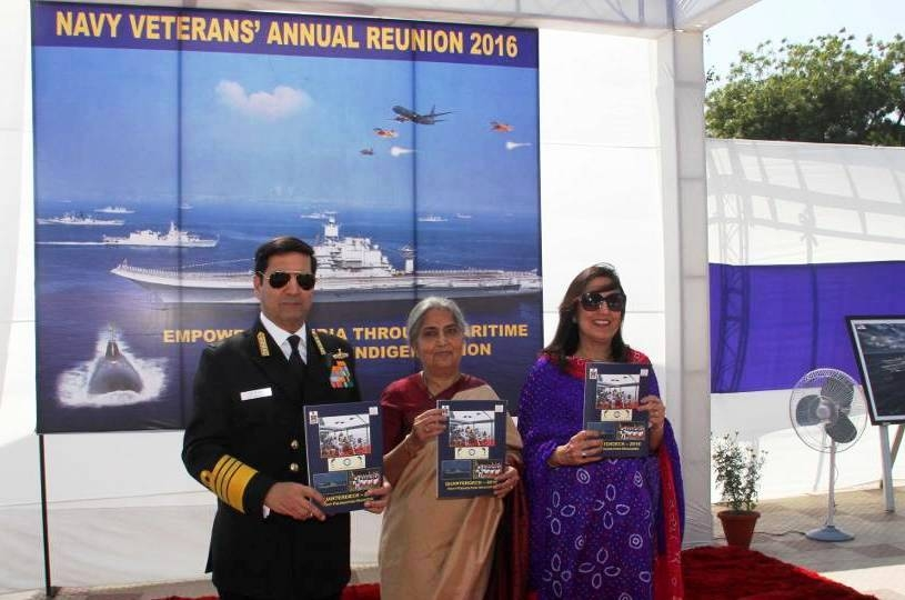 Dhowan hosts reception for Naval veterans; serving and retired fraternity interacts with each other