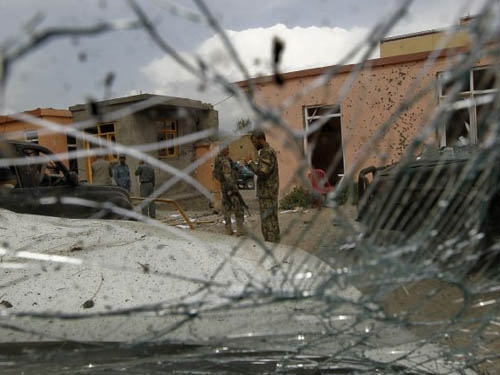 Thirteen killed in a suicide bomb attack in Afghanistan targeting police control room