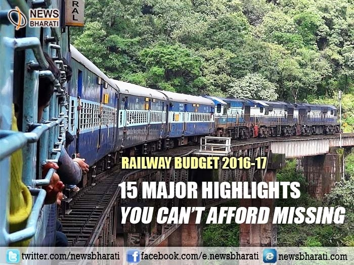 15 major highlights of Railway Budget 2016-17 you can't afford missing