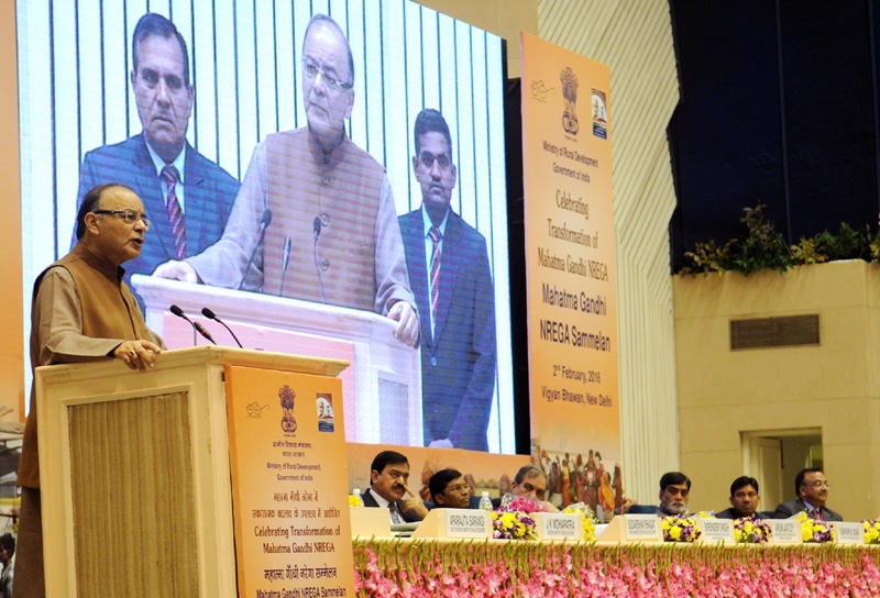 Govt committed to strengthen MGNREGA; highest budget of Rs. 37,000 cr allocated to support scheme, asserts Jaitley
