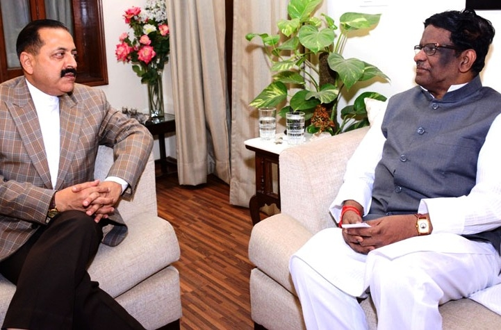 Meghalaya Governor meets Jitendra; discusses issues regarding construction of airport at Shillong