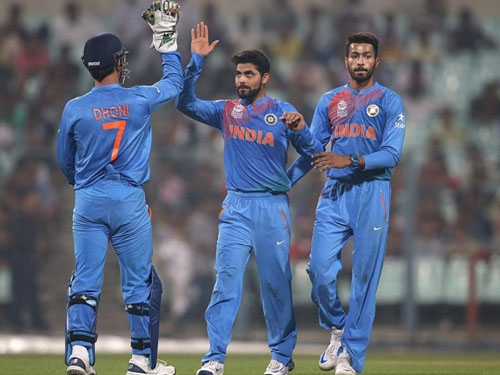 India shines at beginning of World T-20, defeats West Indies by 45 runs in the warm-up match