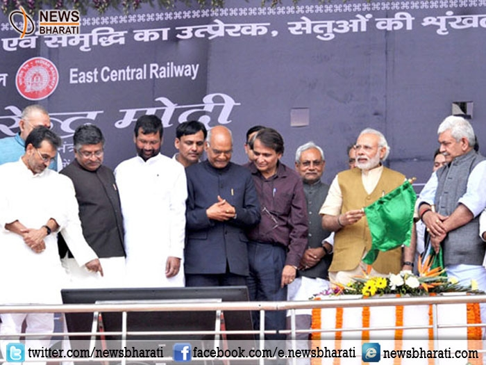 PM Modi unveils plaques for railway bridge projects in Bihar; stresses on need for complete modernization of Railways