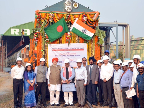 High Speed rail rake consignment carrying sulphur flagged off from Siliguri to Bangladesh