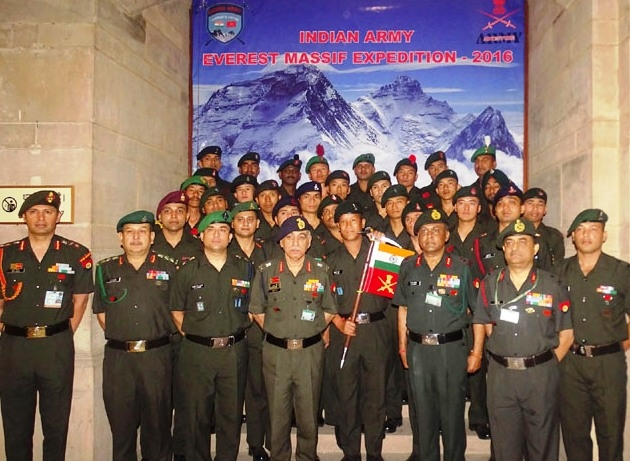 Indian Army Everest Massif Expedition to scale Mount Everest and Mount Lhotse flagged off today
