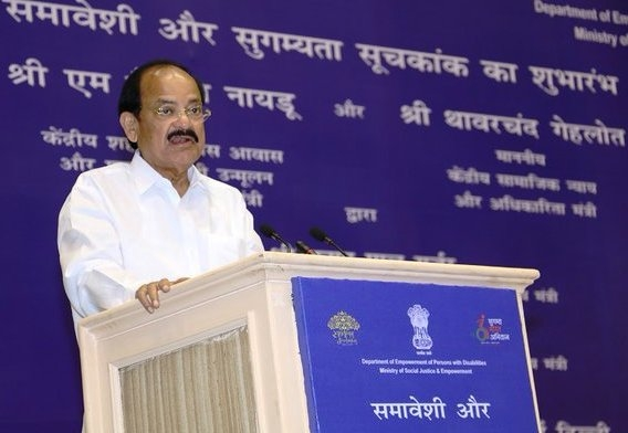 Disabled persons can do well in an enabling environment and avail opportunities: Venkaiah