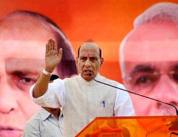 राजनाथ ने कांग्रेस-वाम दल गठबंधन की उड़ाई खिल्ली, कहा- 'केरल में लड़ाई, बंगाल में सगाई'