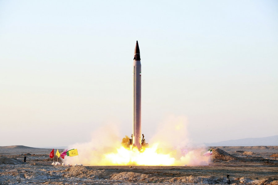 Iran test-fires two ballistic missiles with the country's defense doctrine