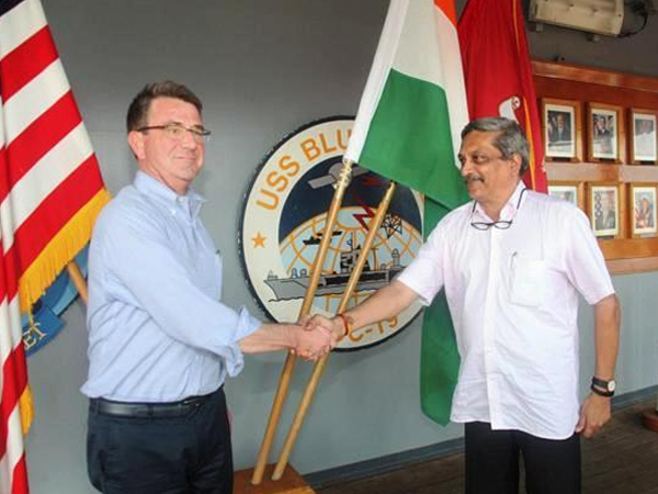 Parrikar holds talks with Carter; both sides agree in principle on sharing military logistics