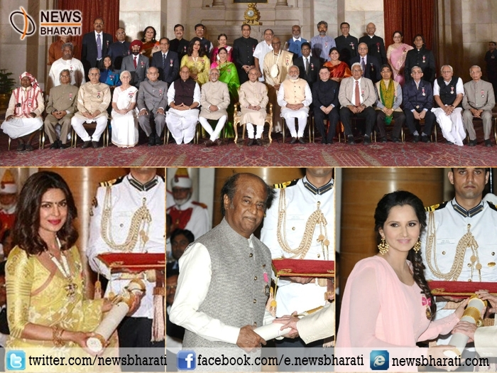 #PadmaAwards2016: Highest honours bestowed to Rajinikanth, Priyanka, Sania and others