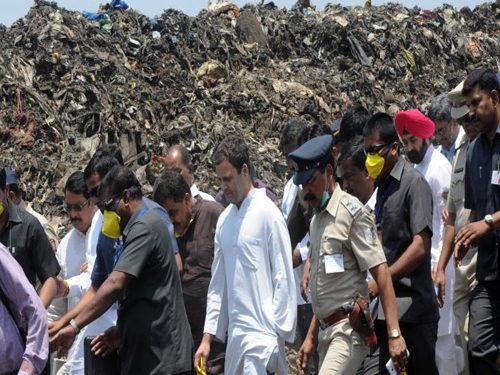 Only talking of Swachh Bharat and doing Swachh Bharat are two different things says Rahul Gandhi
