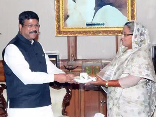 Union Minister Pradhan visits Bangladesh; aims to follow up agendas set by PM Modi last year