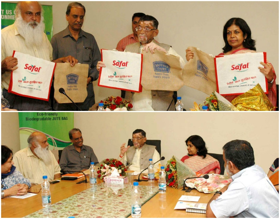 Govt bats for eco-friendly methods; to offer jute bags to customers at all Mother Dairy/Safal outlets in Delhi