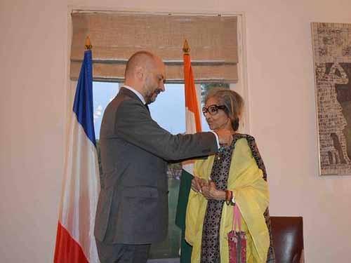 Mahatma Gandhi's grand-daughter 'Tara Gandhi Bhattacharjee' conferred with France top honour