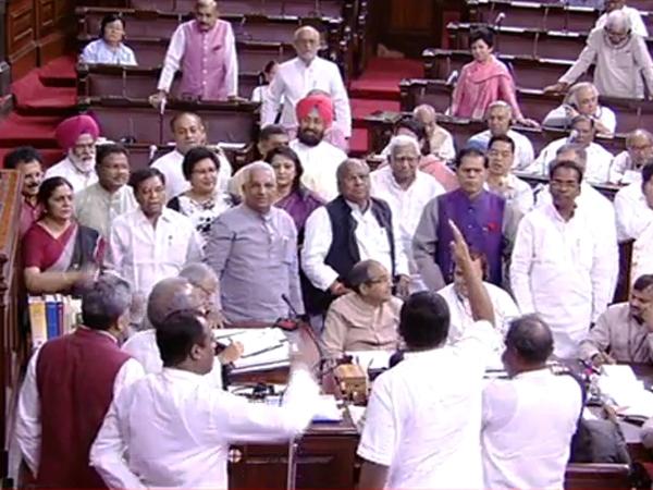 Rajya Sabha adjourned for second consecutive day amid uproar over Uttarakhand and JNU issues