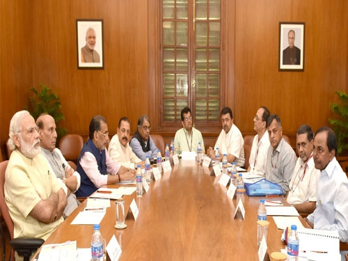PM Modi reviews drought and water scarcity situation in high level meeting with Telangana CM