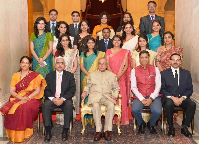 Expectations from young officers are high, heavy responsibility rests on their shoulders: President