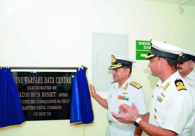 Indian Navy launches underwater surveillance system and mine warfare data centre in Vizag
