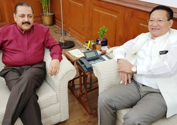 Zeliang meets Jitendra; discusses various developmental issues related to the Nagaland