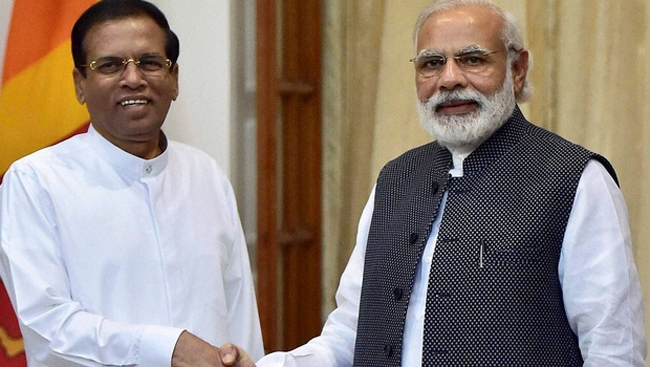 Modi raises fishermen issue during talks with Sri Lankan President