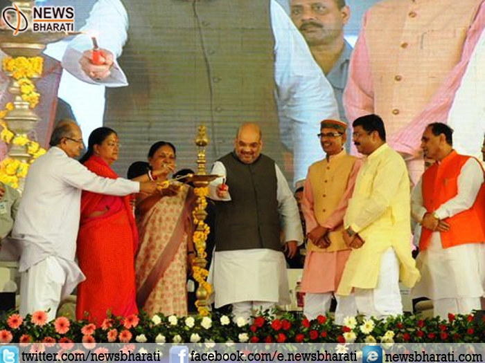 BJP Prez Amit Shah  launches 2nd phase of Prime Minister Ujjwala Yojana at Dahod in Gujarat