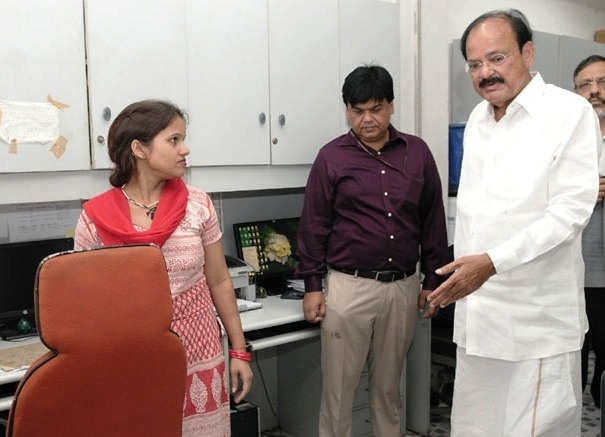 15 day 'Swachh Office drive' launched; Naidu inspects cleanliness status in Nirman Bhawan