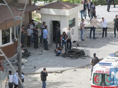 Blast in Turkey's police headquarters kills 9 people and injures 64