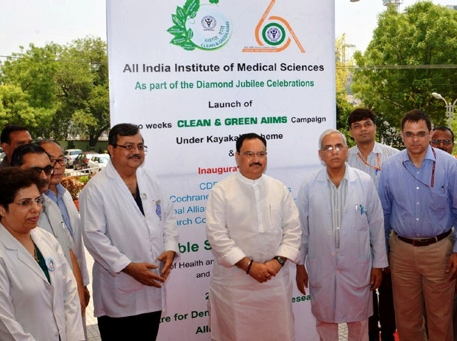 Nadda launches 'Kayakalp Fortnight' to be observed across the nation in Central Govt hospitals