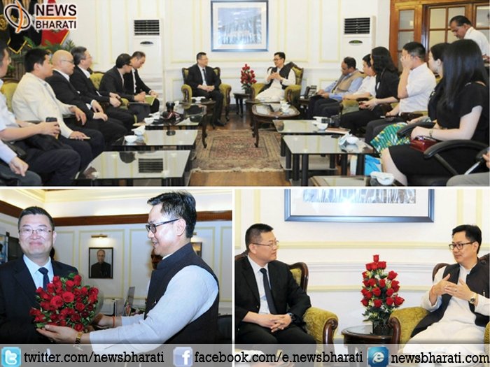 Rijiju meets Chinese delegation; says India eager to enhance trade and cultural ties with China
