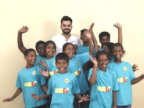 Virat pitches for exercise & nutritional food integral for underprivileged children