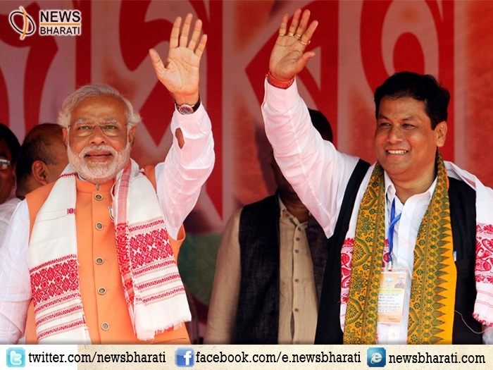 Sonowal takes charge as Chief Minister of Assam; top leaders attend the swearing-in ceremony