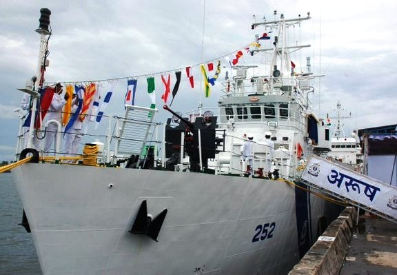 Indian Coast Guard Ship 'Arush' commissioned to face security challenges in maritime domain