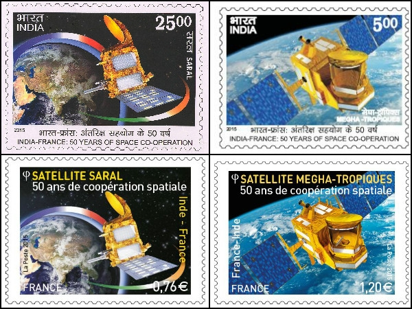India-France celebrate 50 years of relation in space science; releases set of 2 postage stamps