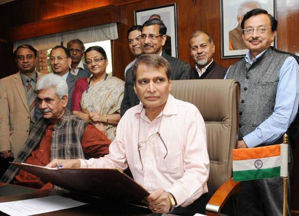 All North eastern states will be linked with broad gauge rail link by 2020: Prabhu