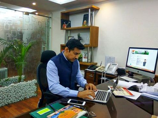 Rathore interacts with netizens on Facebook; asks them to stay connected with Govt on regular basis