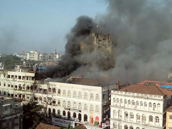 Mumbai: Massive fire breaks out at metro building in Colaba; 12 fire engines join rescue operations