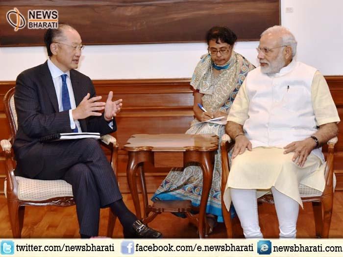 World Bank PrezKim meets PM Modi; appreciates India's rapid progress in ease of doing business