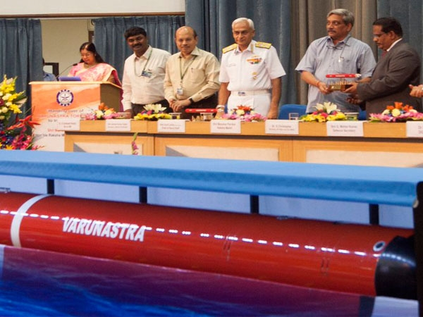 Parrikar hands over underwater missile 'Varunastra' to Indian Navy