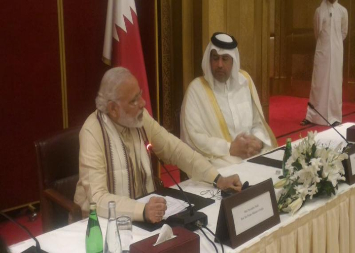 Modi reaches out Qatar businessmen, appeals them to invest in India