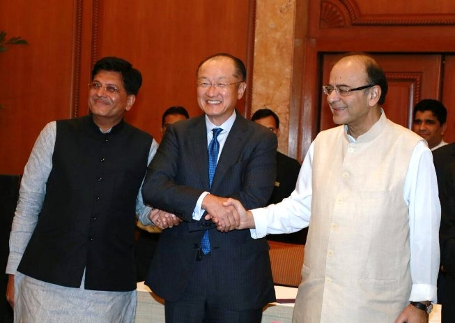 Jaitley and Goyal meet World Bank Prez; reiterate India's commitment to rapid, inclusive growth