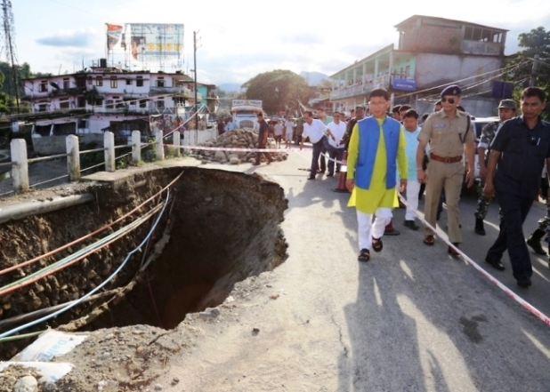 Pul reviews flood situations in Arunachal; says manmade interventions leave a trail of destruction