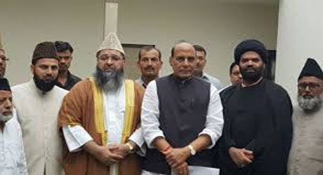 Muslim clergy group meets Rajnath, offers help to intervene in Kashmir