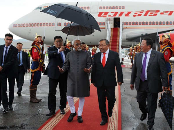Vice-President Hamid Ansari arrives in Mongolia to lead Asia-Europe Meeting summit