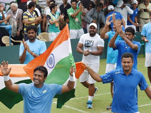 Davis cup: Bopanna-Paes victory against Korean pair progress India for World group play-offs