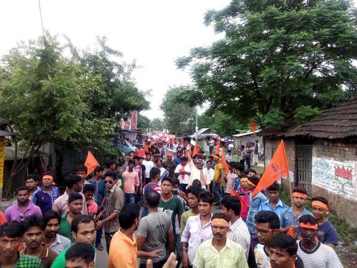 Hindu Samhati holds rally to protest atrocities on Hindus in B'desh