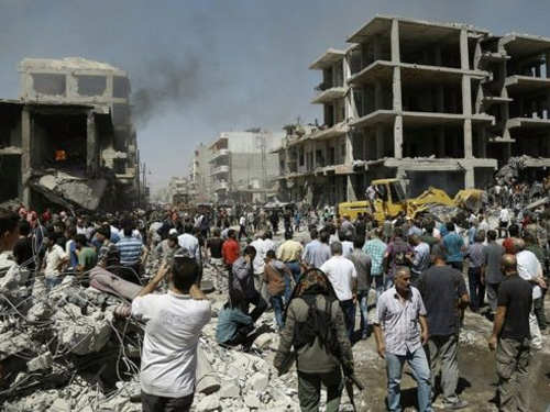 At least eight people killed and several wounded in suicide bombing in Syrian capital, Damascus