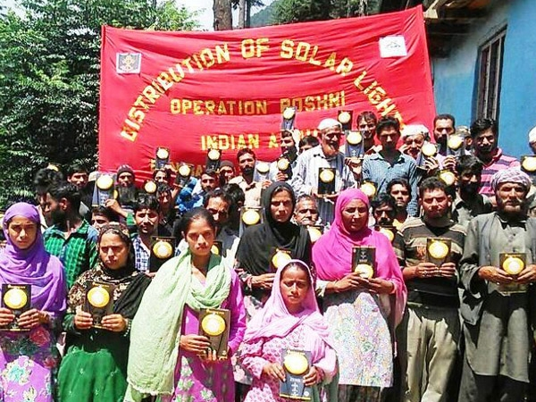 Indian Army distributes solar lamps in Jammu's Doda District under 'Project Roshni'